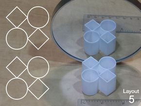 Improved Ambiguous Cylinder Illusion (Layout 5) in White Strong & Flexible