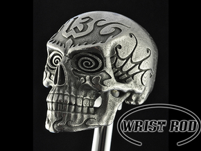Shifter - Skull 13 in Polished Bronzed Silver Steel