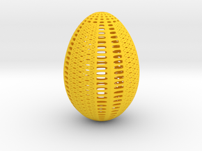 Designer Egg 1 in Yellow Processed Versatile Plastic