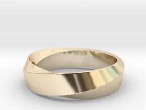 Mobius Wide Ring II (Size 11 3/8) in 14K Yellow Gold