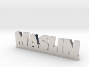 MASLIN Lucky in Rhodium Plated Brass