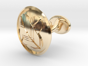 "Japanese Kamon cufflink ""違いの羽紋"" in 14K Yellow Gold: Small"