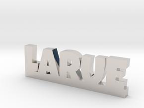 LARUE Lucky in Rhodium Plated Brass