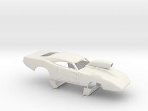 1/25 69 Daytona Pro Mod W Vents W Scoop in White Natural Versatile Plastic
