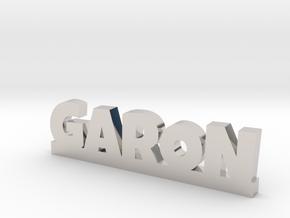 GARON Lucky in Rhodium Plated Brass