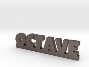 OCTAVE Lucky in Polished Bronzed Silver Steel