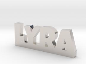 LYRA Lucky in Rhodium Plated Brass