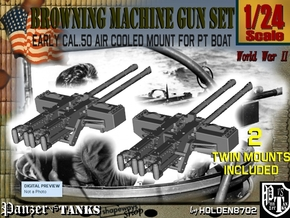 1-24 PT Boat Cal 50 M2 Early Mount Set1 in Frosted Ultra Detail