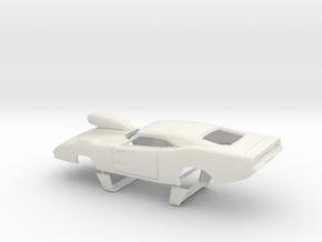 1/25 69 Daytona Pro Mod W Vents W Scoop Sm WW in White Natural Versatile Plastic