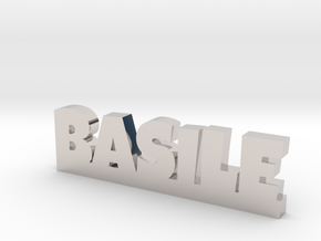BASILE Lucky in Rhodium Plated Brass