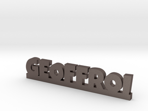 GEOFFROI Lucky in Polished Bronzed Silver Steel