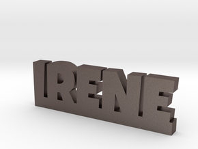IRENE Lucky in Polished Bronzed Silver Steel