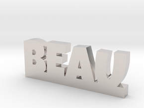 BEAU Lucky in Rhodium Plated Brass