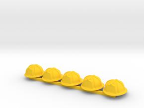 5 x American Fire Helmet in Yellow Processed Versatile Plastic