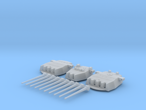 """1/700 HMS Prince of Wales 14"""" Turrets 1941 in Smoothest Fine Detail Plastic"""