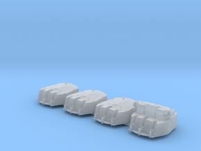 "1/700 RN Triple 6"" MKXXIII Turrets (4) HMS Nigeria in Smoothest Fine Detail Plastic"