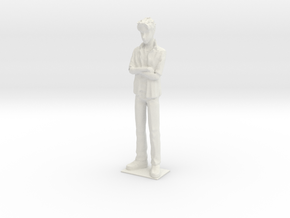 1/24 Modern Outfit Spectator Standing in White Natural Versatile Plastic