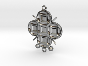 Pendant Veritamour in Polished Silver