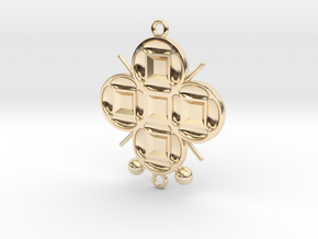 Pendant Veritamour in 14k Gold Plated Brass