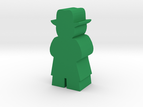 Game Piece, Man With Fedora and Tenchcoat in Green Processed Versatile Plastic