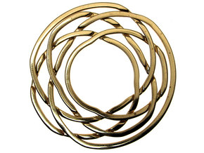 WOW5 Coaster Metal in Polished Bronze (Interlocking Parts)