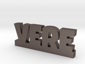 VERE Lucky in Polished Bronzed Silver Steel