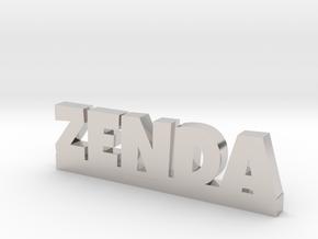 ZENDA Lucky in Rhodium Plated Brass