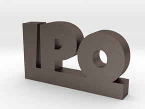 IPO Lucky in Polished Bronzed Silver Steel