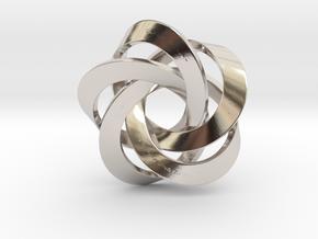 Pentator Pendant in Rhodium Plated Brass