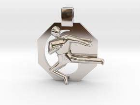 Pendant - Mens Yeop Chagi in Platinum