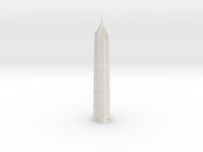 Jin Mao Tower (1:2000) in White Natural Versatile Plastic