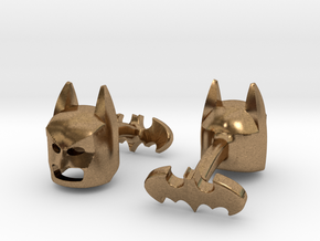 Batman Cufflinks in Natural Brass