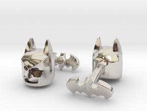 Batman Cufflinks in Rhodium Plated Brass