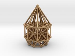 Tesseract Matrix Stargate in Polished Brass