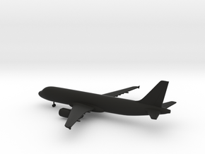 Airbus A320 in Black Natural Versatile Plastic: 1:400
