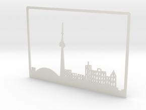 Toronto Skyline - 6 X 8.625 (M) in White Natural Versatile Plastic