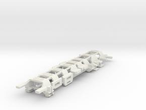 HWP SL2/BW1 Body Clip Sampler Pack in White Natural Versatile Plastic