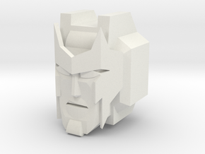 Ambulon Head for CombinerWars in White Natural Versatile Plastic