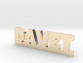 DAVET Lucky in 14k Gold Plated Brass