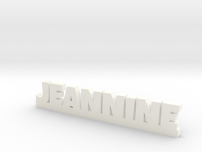 JEANNINE Lucky in White Processed Versatile Plastic
