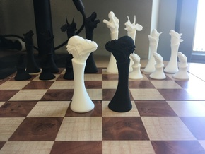(Chess) Pachycephalosaurus Bishop in White Natural Versatile Plastic