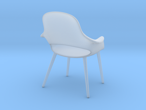 Miniature Eames Organic Chair - Charles Eames  in Smooth Fine Detail Plastic
