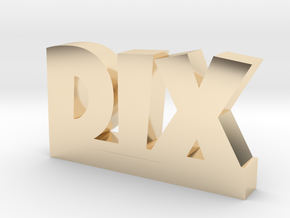 DIX Lucky in 14k Gold Plated Brass