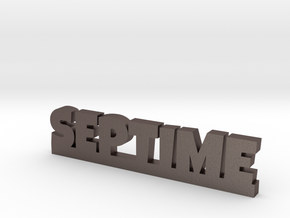SEPTIME Lucky in Polished Bronzed Silver Steel