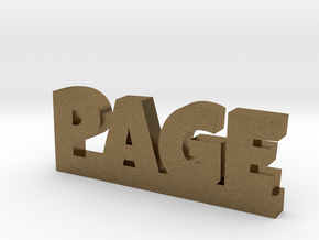 PAGE Lucky in Natural Bronze