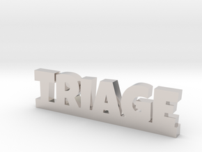 TRIAGE Lucky in Rhodium Plated Brass