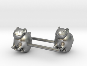 Chinchilla Earrings in Natural Silver