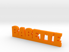 BABETTE Lucky in Orange Strong & Flexible Polished