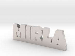 MIRLA Lucky in Rhodium Plated Brass