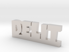 DELIT Lucky in Rhodium Plated Brass